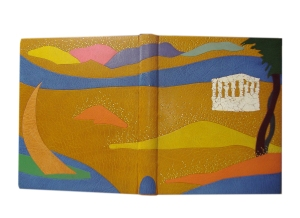 Pierre Loti. La Mort de Philae, with illustrations by Geo Colucci, Paris, Ed. Rene Kieffer, 1924. 9 x11 inches Bound in 2010 Private collection