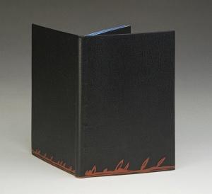 La couleur du vent. Full leather. Mosaic décor set with dark red box. Bound ca. 2013 for ARA exhibit 2013-2014