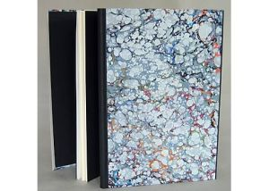 Edward Lear, Another Nonsense Story, The Old Stile Press, GB, 1990; Dos-a-Dos structure, marbled paper binding with leather endbands. Hand Bookbinders of California exhibit 2006.