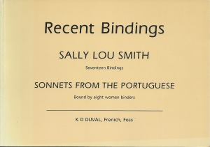Sally Lou Smith Recent bindings